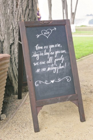 chalkboard for wedding sign