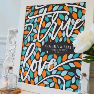 Alternative Signature Tree Wedding Guestbook from PaperRamma