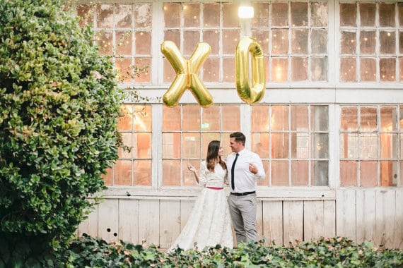 XO gold balloons by Oh Shiny Paper Co