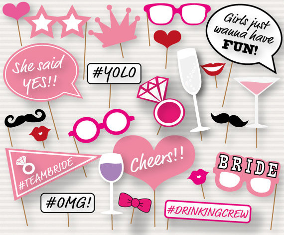 Printable Bridal Shower Photo Booth Props