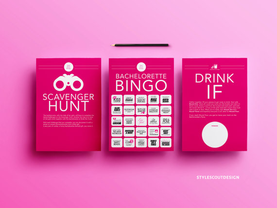 Bachelorette Party Game Pack by Style Scout Design