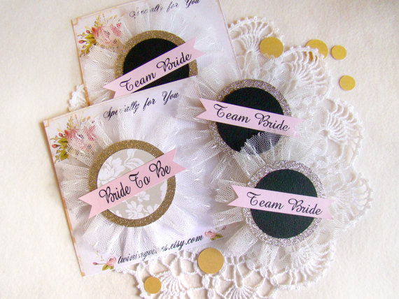 Team Bride Pins by Twining Vines