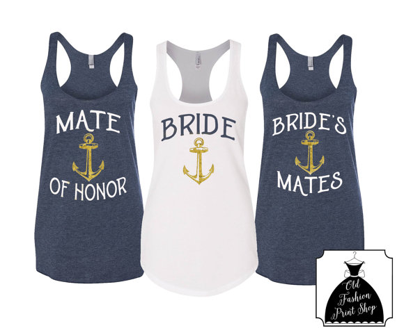 Nautical Themed Bachelorette Shirts By Old Fashion Print Shop