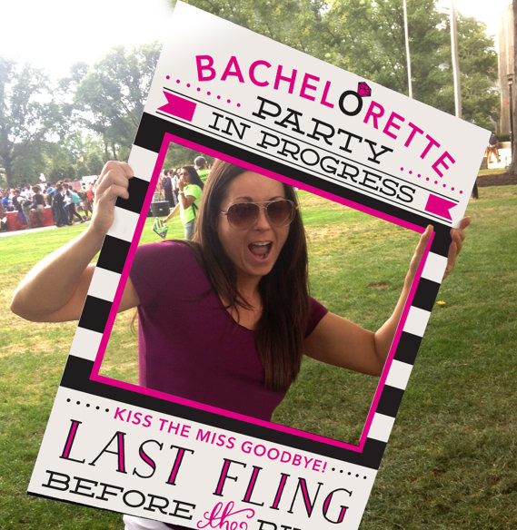 Bachelorette Party Photo Prop by Creative Union Design