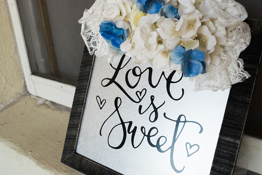 Love is sweet sign for wedding decor