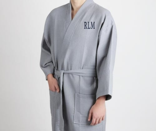 Monogrammed robe for guys