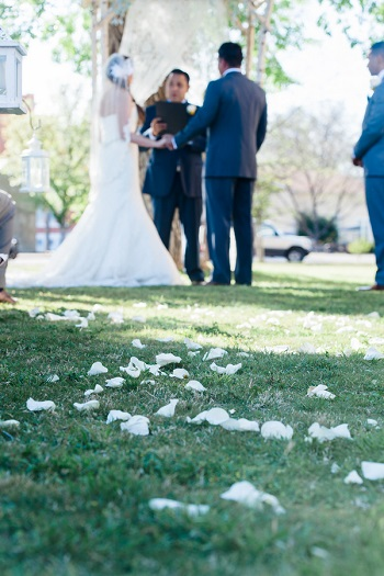 Outdoor wedding at Presidio County Courthouse
