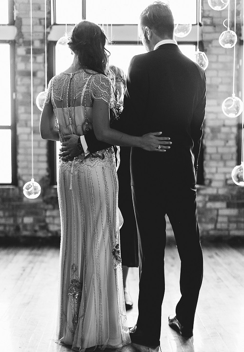 Warehouse Wedding ceremony at The Burroughes Building