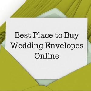 buy wedding envelopes online