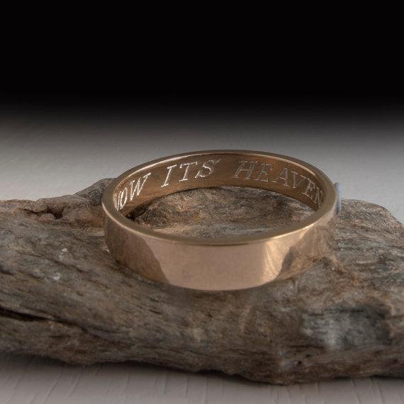men wedding band engraved