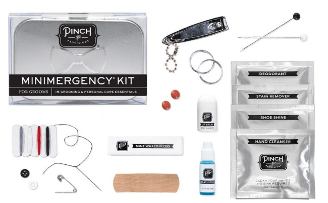 minimergency kit for grooms from Pinch