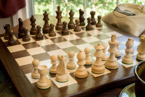 Engraved Wooden Chess Set