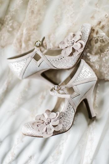 vintage style bridal heels