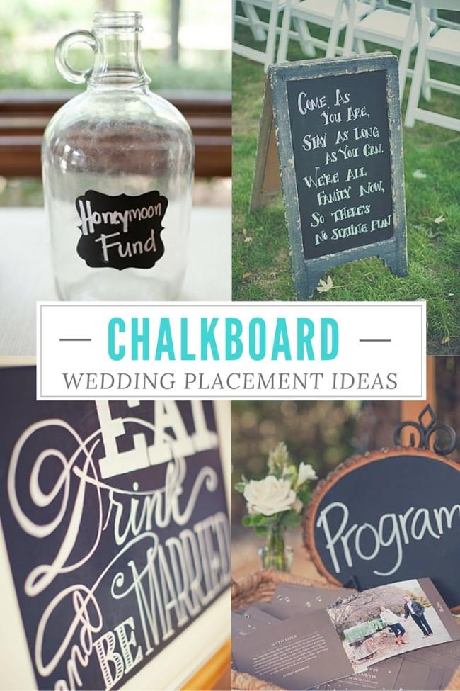 Chalkboard Wedding Placement Ideas