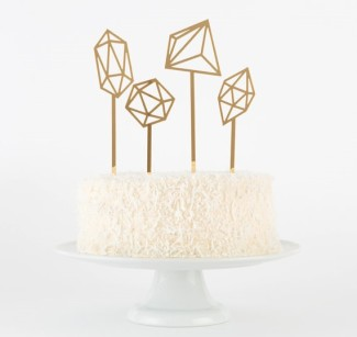 Geometric Cake Toppers Set