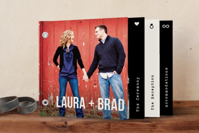 Modern Union minibook wedding invitation by minted.com