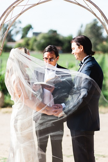 Outdoor wedding at Brander Vineyards