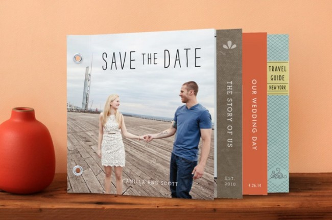 Storybook minibook wedding invitation by minted