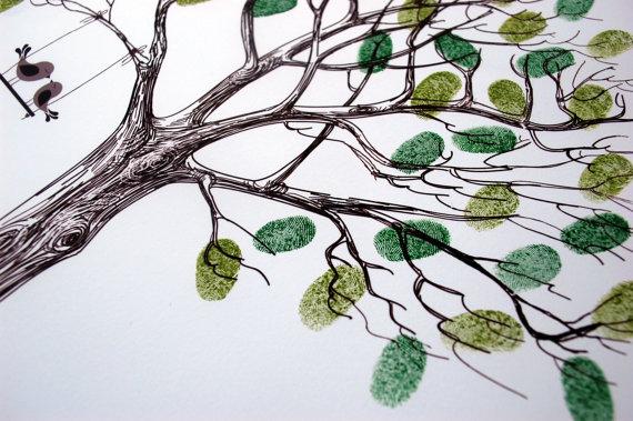 Fingerprint tree by Wedding Stationery Des