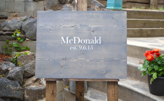 Rustic Guest Book Wooden Slab by Mintage Designs