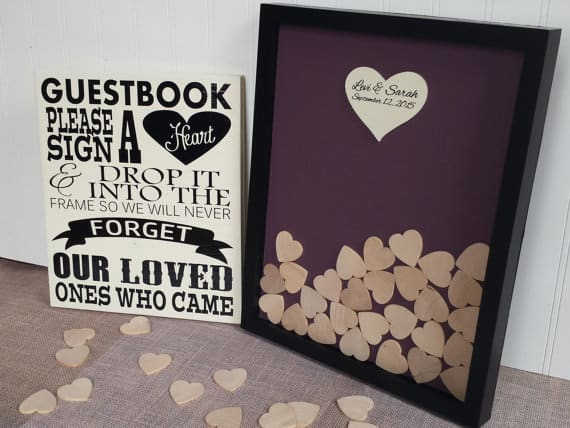 Heart Guest Book Drop Top by Crafty Mama Gifts