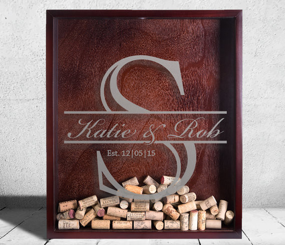 Initial Wedding Shadow Box by Everything Etched AZ