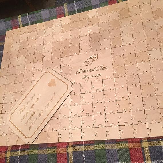 Puzzle wedding guestbook by Wedding Craft Shop