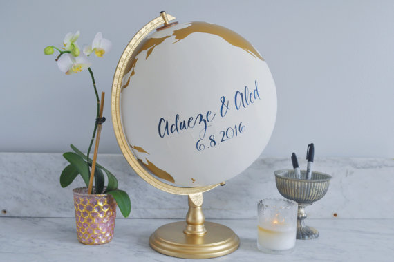 Guestbook Globe by Nearly Scripted
