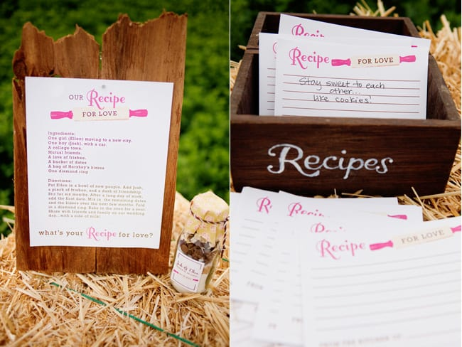 Recipe for love cards for alternative wedding guestbook