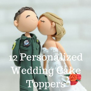12 Personalized Wedding Cake Toppers