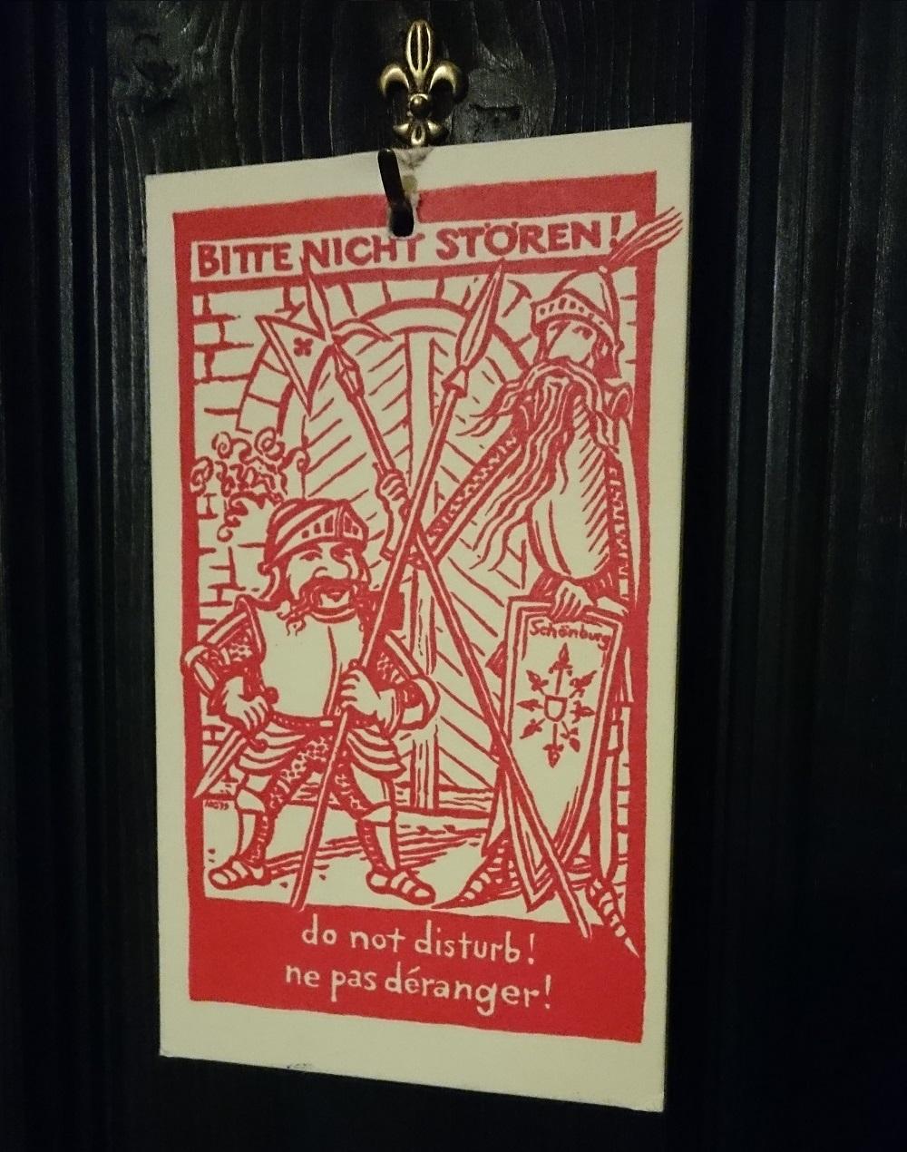 door hanger in German bitte nicht storen