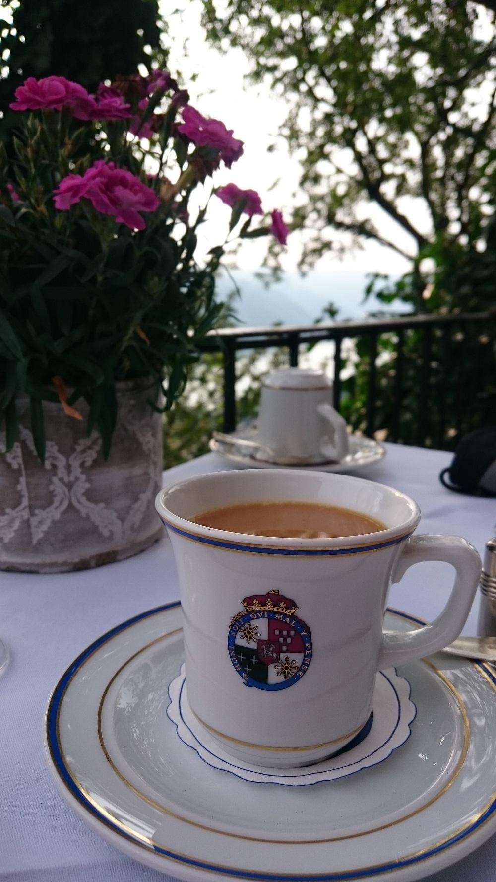 coffee cup at Castlehotel Schönburg