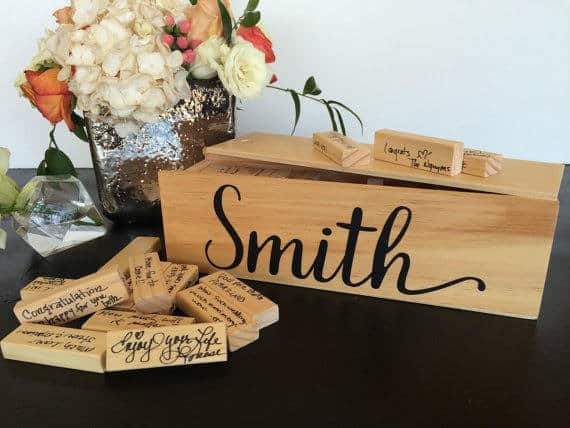 Jenga Game unique guest book ideas