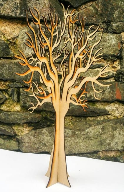 Lasercut Wooden Freestanding 3D Wishing Tree