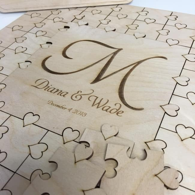 Puzzle Piece wedding Guest Book idea