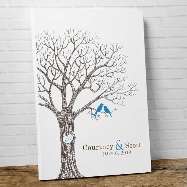 Thumb Print Wedding Tree Guest Book