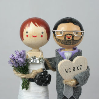 Custom wood personalized cake topper by Together Forever