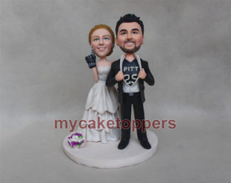Custom Bride and Groom Wedding Cake Topper by deal easy net