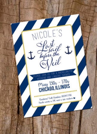 Bachelorette Party Invitation Last Sail Before The Veil
