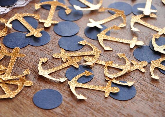 Gold Anchor Confetti