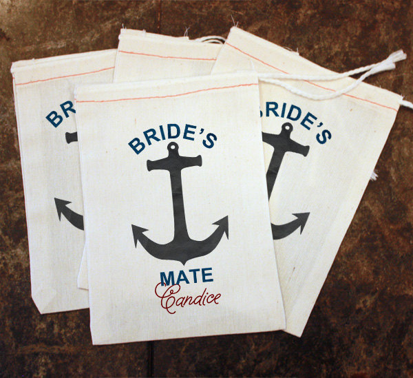 Nautical Themed Bachelorette Party Favor Bags