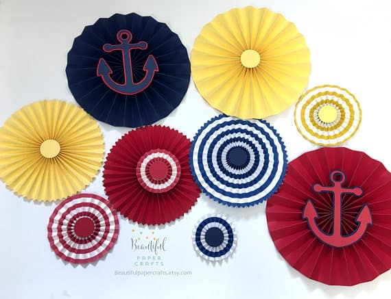 Set of 8 Nautical Inspired Rosettes