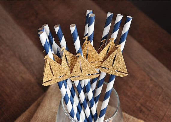 nautical Paper Party Straws
