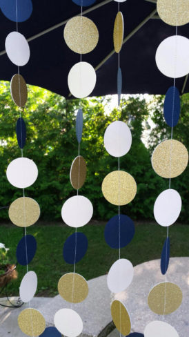 nautical wedding navy and gold wedding decorations