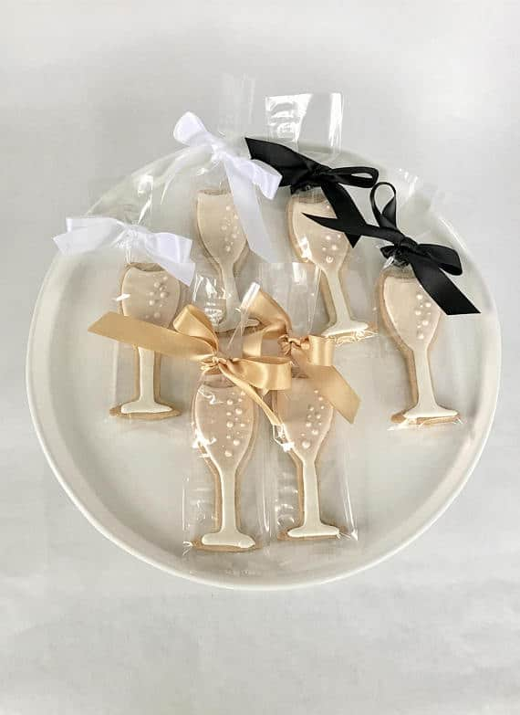 Champagne Glass Favor Cookies