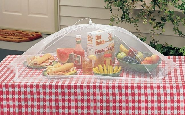 giant outdoor tabletop food cover