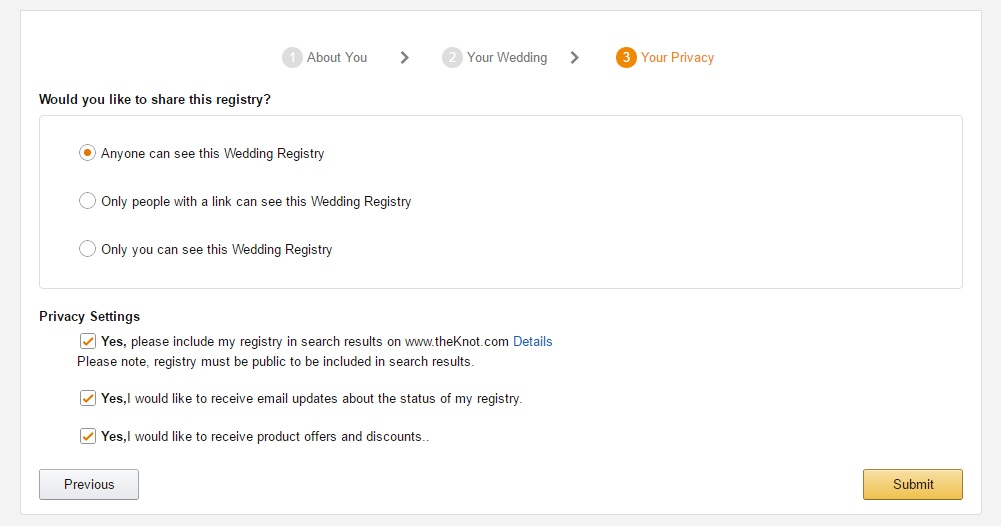 privacy-for-your-amazon-wedding-registry-account