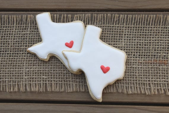 Texas Wedding Cookie Favors