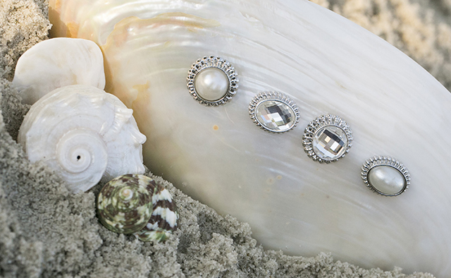 bridal veil weights with pearls and rhinestones