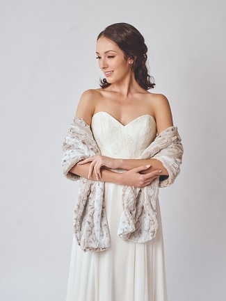 Winter Wedding Bridal Fur Stole